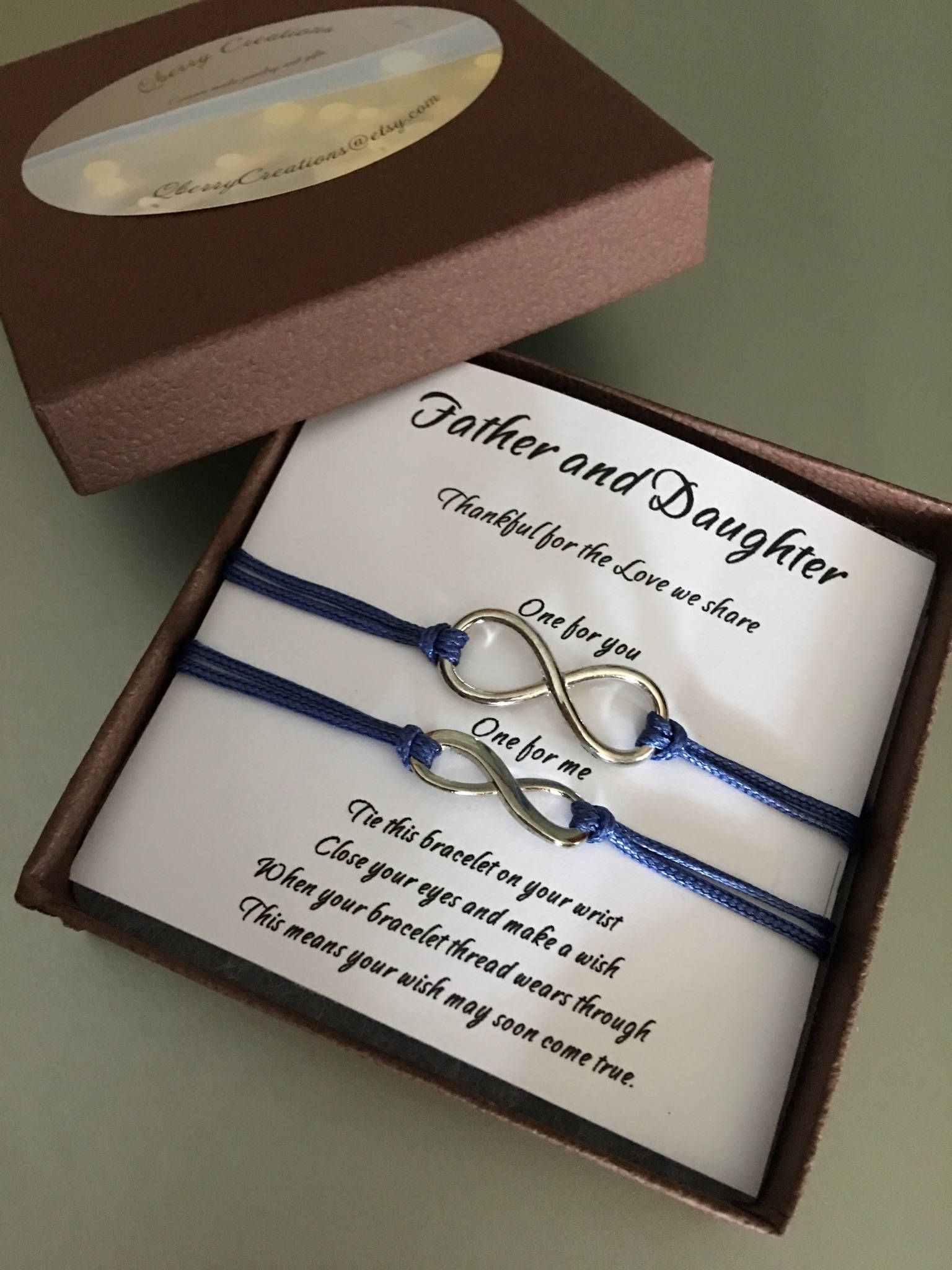 friendship bracelets personalize bracelet custom bracelets father daughter gift long distance gift romantic gift gray white bracelet