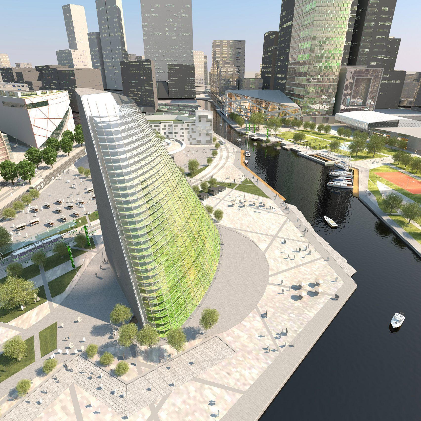 Plantagon Designs An Office Block Containing A 60-metre