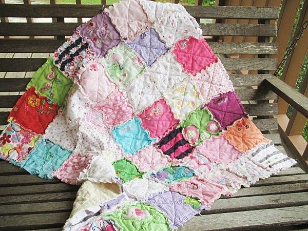 Memory Rag Quilts made from your baby clothing-quilts, baby, rag quilts, memory quilts, keepsakes, baby clothing, memories, pink, children, gifts, repurpose, recycle, go green, southern charm, handmade, handcrafted, baby, indie