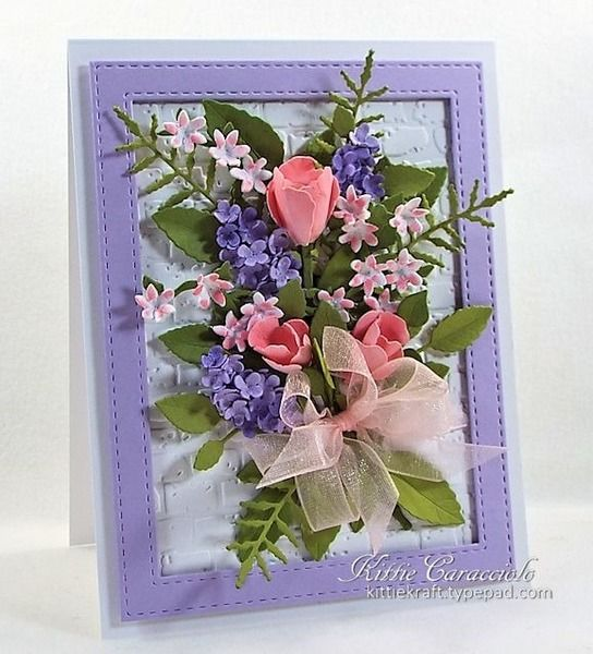 Inspired Susan's Tulips and Lilac by kittie747 - Cards and Paper Crafts at Splitcoaststampers