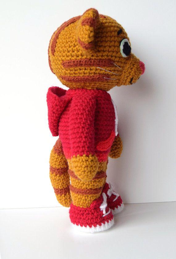 Daniel Tiger Amigurumi Pattern Daniel Tiger Crochet Doll Pattern In