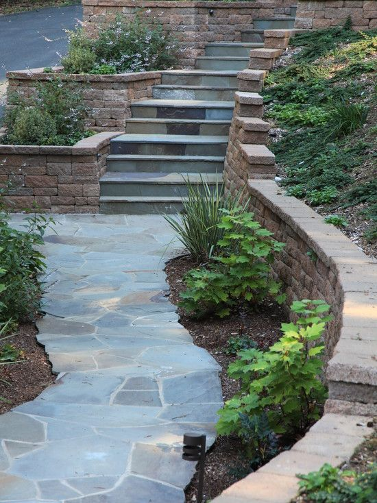 Sloped Backyard Landscaping Walkways
