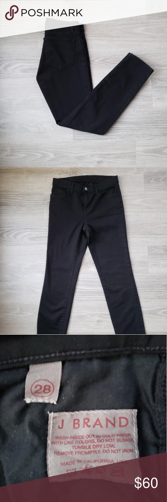 3676ec848bb0 J Brand 811 Mid Rise Skinny Leg Shadow Perfect condition! Super dark black  color
