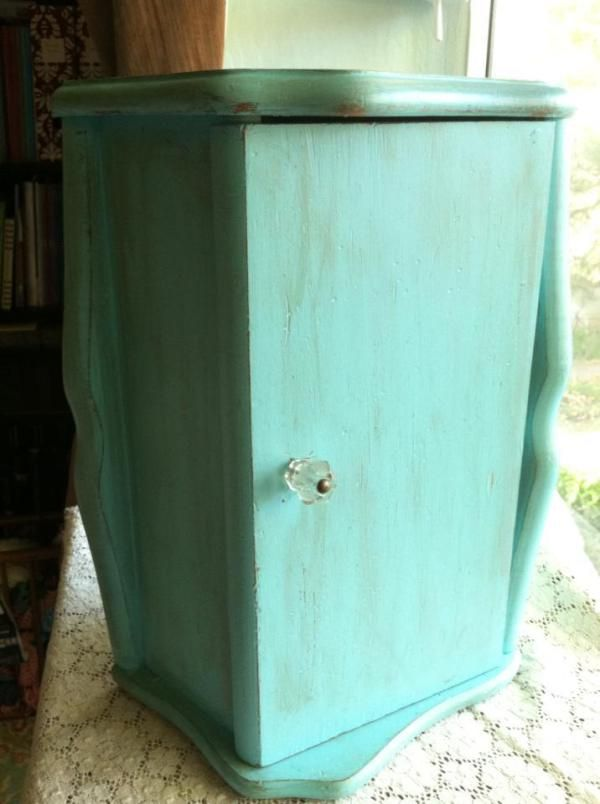 Turquoise Bread Box Mesmerizing Repurposed Jewelry Cabinet From An Old Bread Box Vintage Bread