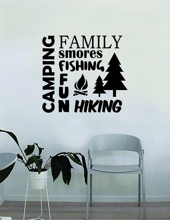 Camping Wall Decal Quote Home Room Decor Decoration Art Vinyl Sticker Inspirational Motivational Adv