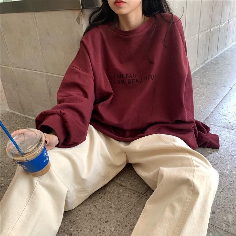 I Am Bad I Am Beautiful Loose Pullovers