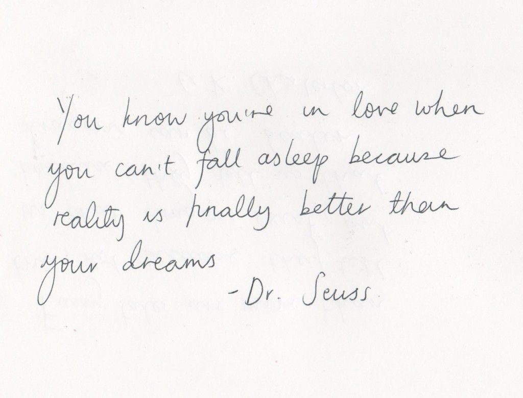 Quotes About Dreams And Love You Know You're In Love When You Can't Fall Asleep Because Reality