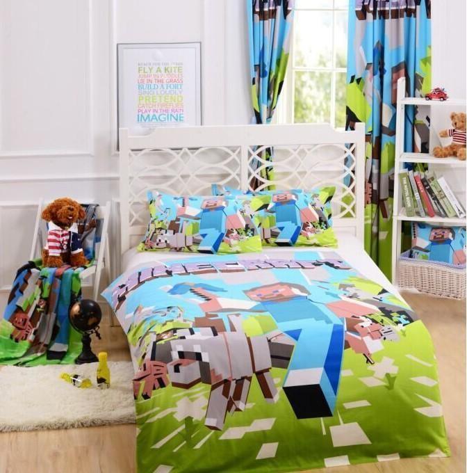 Hot Sale 3d Bedding Set Minecraft Creeper Kids Bed Set Twin Full Queen Size  Duvet Cover - Minecraft Bed Set – Minecraft Super Store Minecraft Bedroom