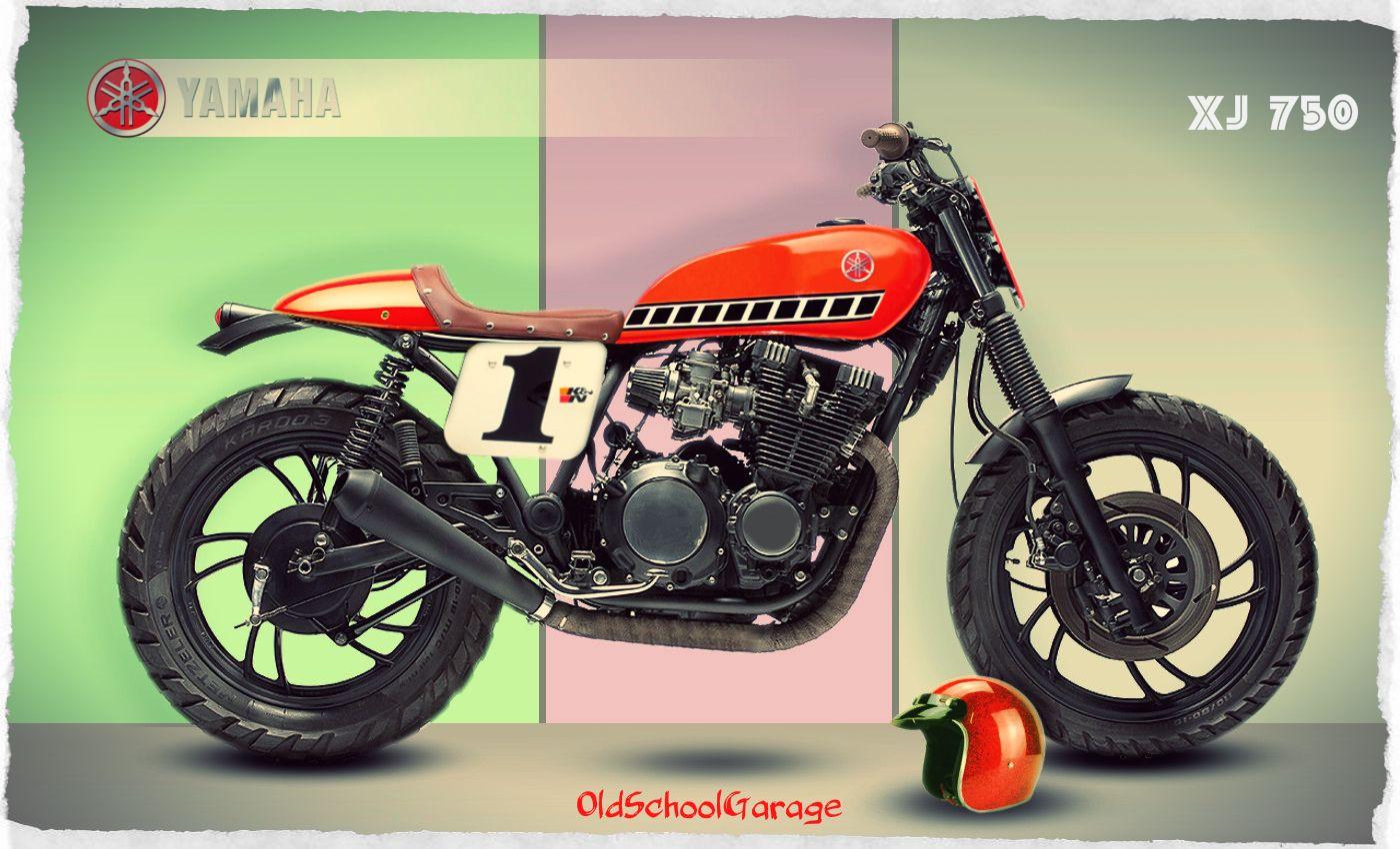 yamaha # xj 750 # cafe racer # old school garage #vintage racer