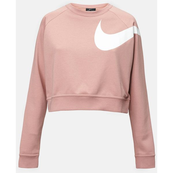 fe340d41 nike dry versa long-sleeve training t-shirt ($48) ❤ liked on Polyvore  featuring activewear, activewear tops, long sleeve activewear, pink  sportswear, nike, ...