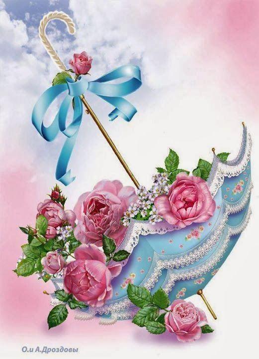 Ahşap Boyama 58 Gülçiçek Desenli Dekupaj Dekopaj Floral