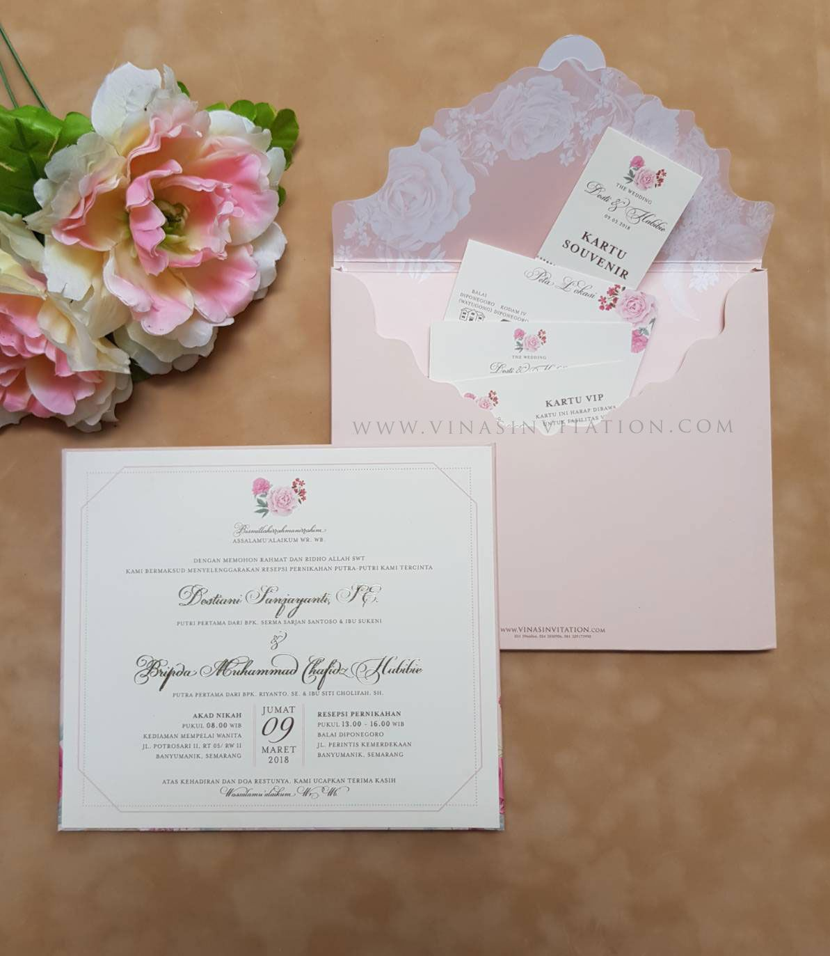 vinas invitation. sydney wedding invitation. indonesia wedding ...