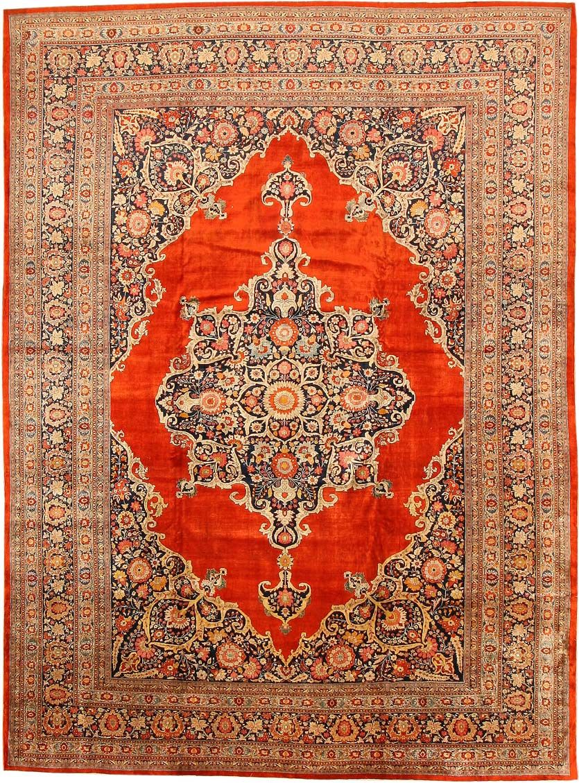 Fine antique persian silk tabriz rug 7991 by nazmiyal for Tapetes orientales