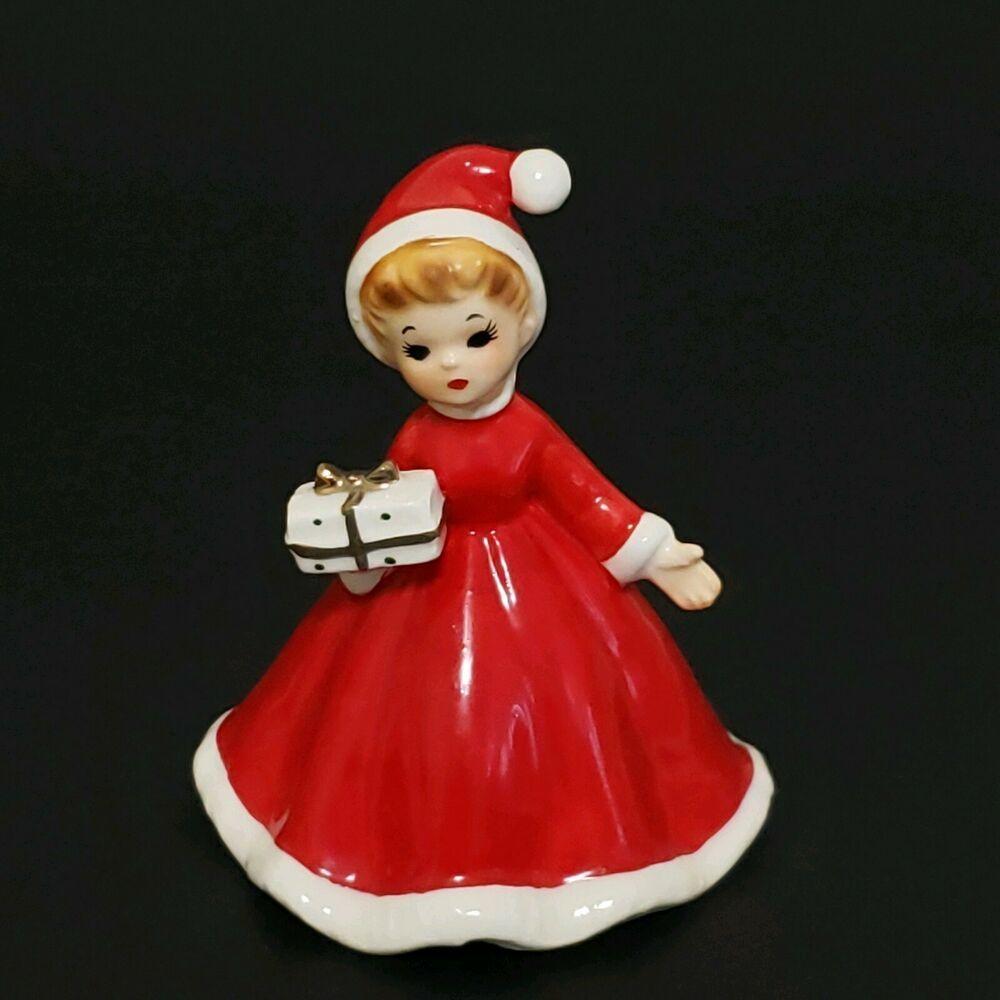 Joseph Originals Christmas Bell Girl in Red Santa Dress