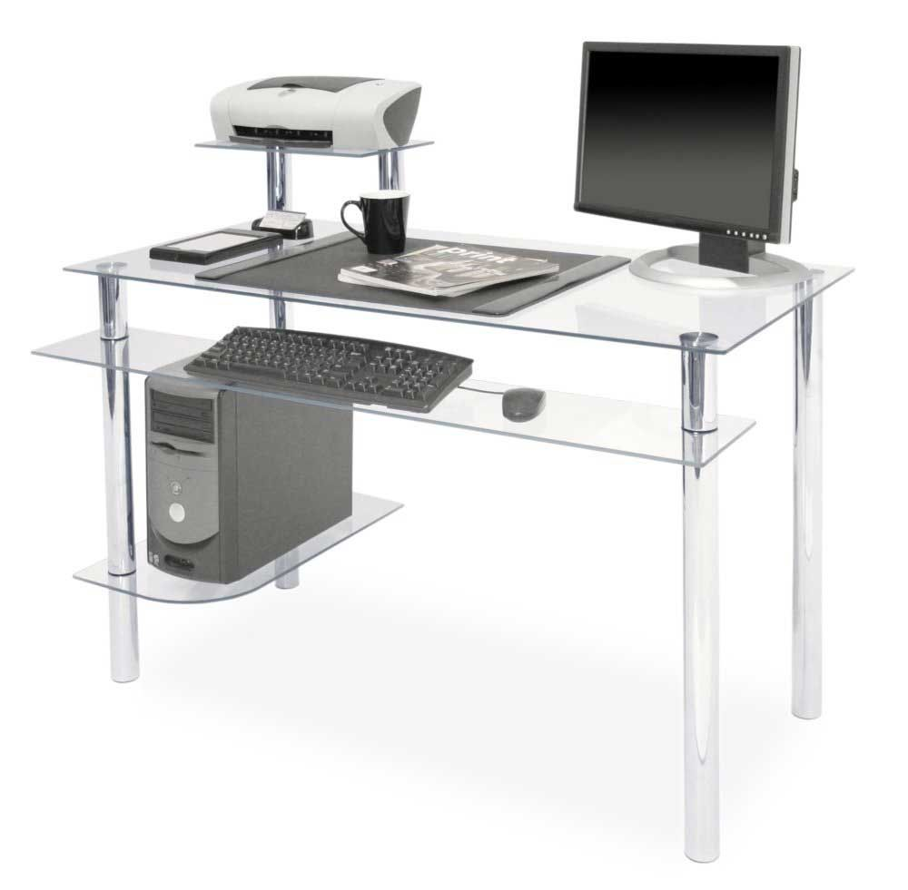 Clear Glass Desks For Computers Office Furniture Computer Desk Cool Office Desk Contemporary Home Office Furniture