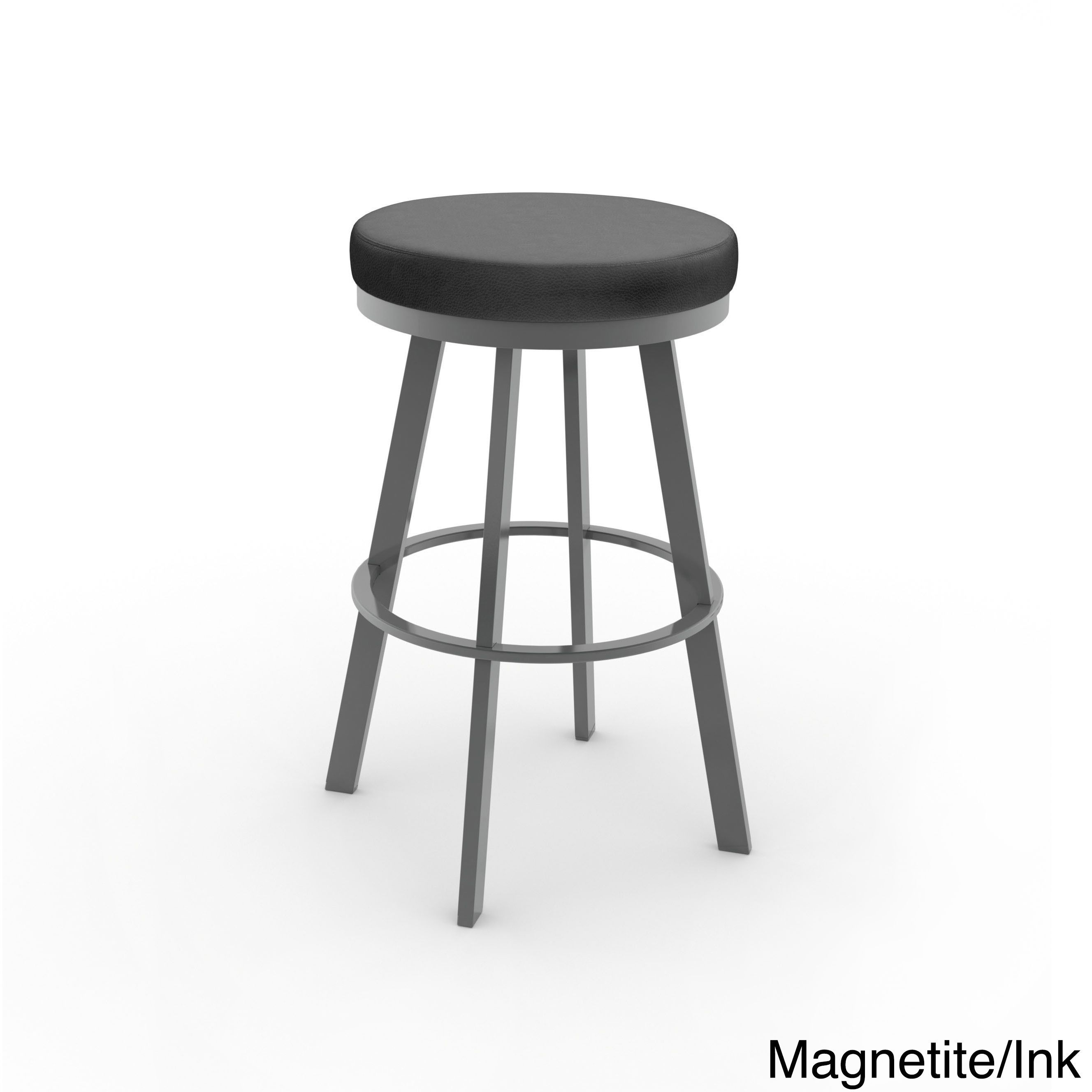 Astonishing Amisco Swice 30 Swivel Bar Stool Grey Metal Charcoal Black Squirreltailoven Fun Painted Chair Ideas Images Squirreltailovenorg
