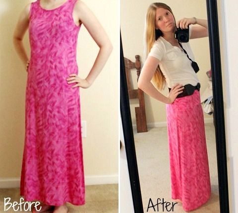 DIY Revamp: How to Turn an Old Dress into a Maxi Skirt | Creative ...