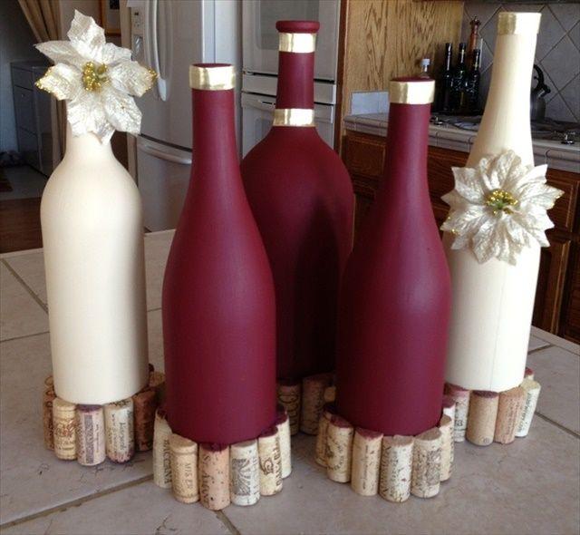 28 DIY Stunning Wine Bottle Centerpiece Bottle Search and Wedding