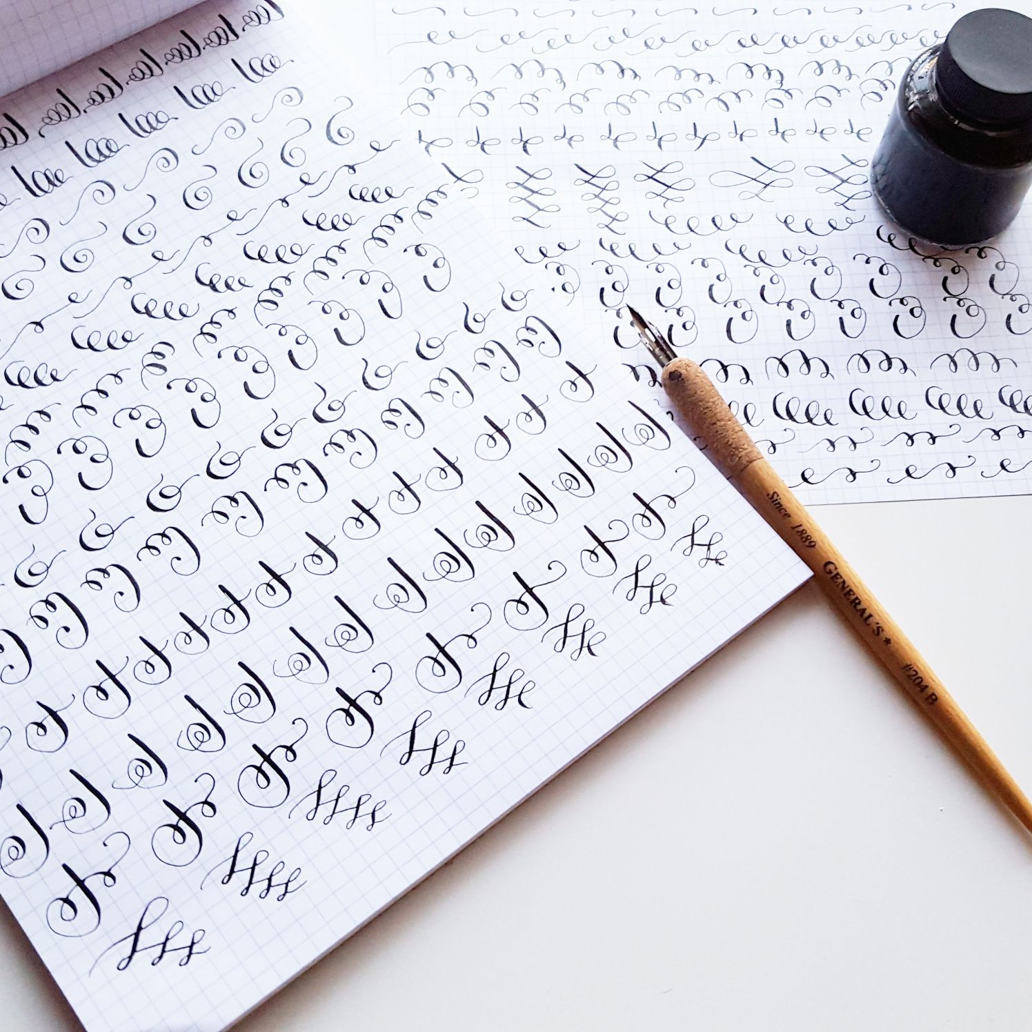 Drills Help Me Feel More Familiar With Calligraphy