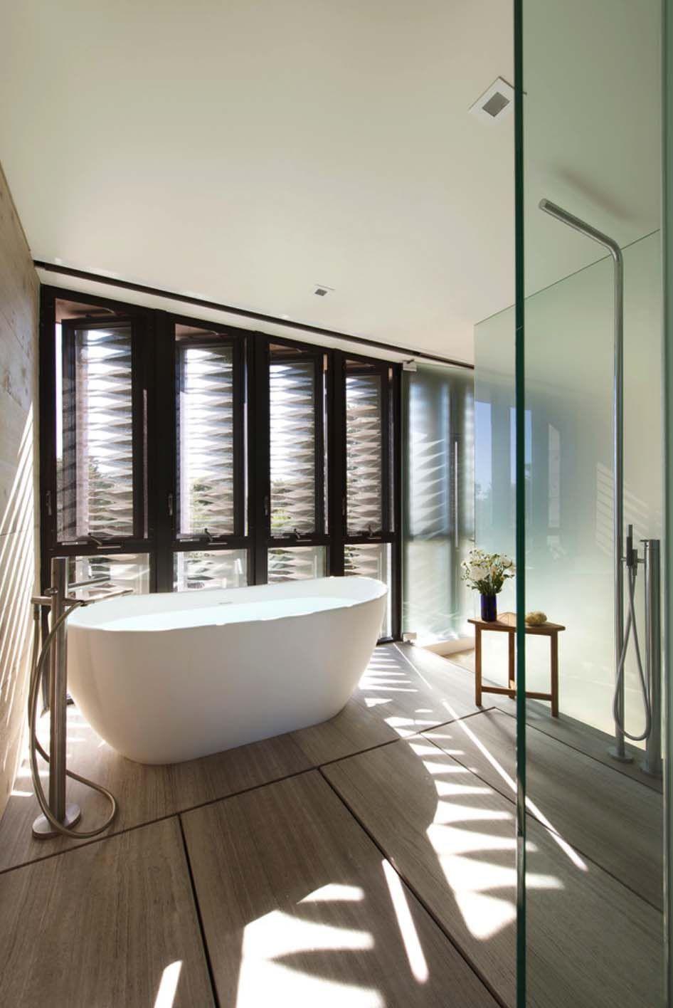 Wohndesign interieur badezimmer modernes sommerhaus in den dünen von amagansett  die architektur