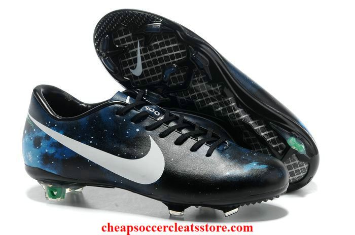 f593b22e4 Nike Mercurial CR7 Limited Edition FG Cleats For Cheap Black White Blue Galaxy  Soccer Cleats