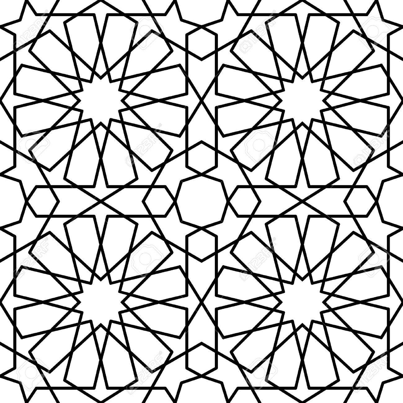 transparente motif g om trique islamique arabe islamic art islamic art pattern arabic. Black Bedroom Furniture Sets. Home Design Ideas