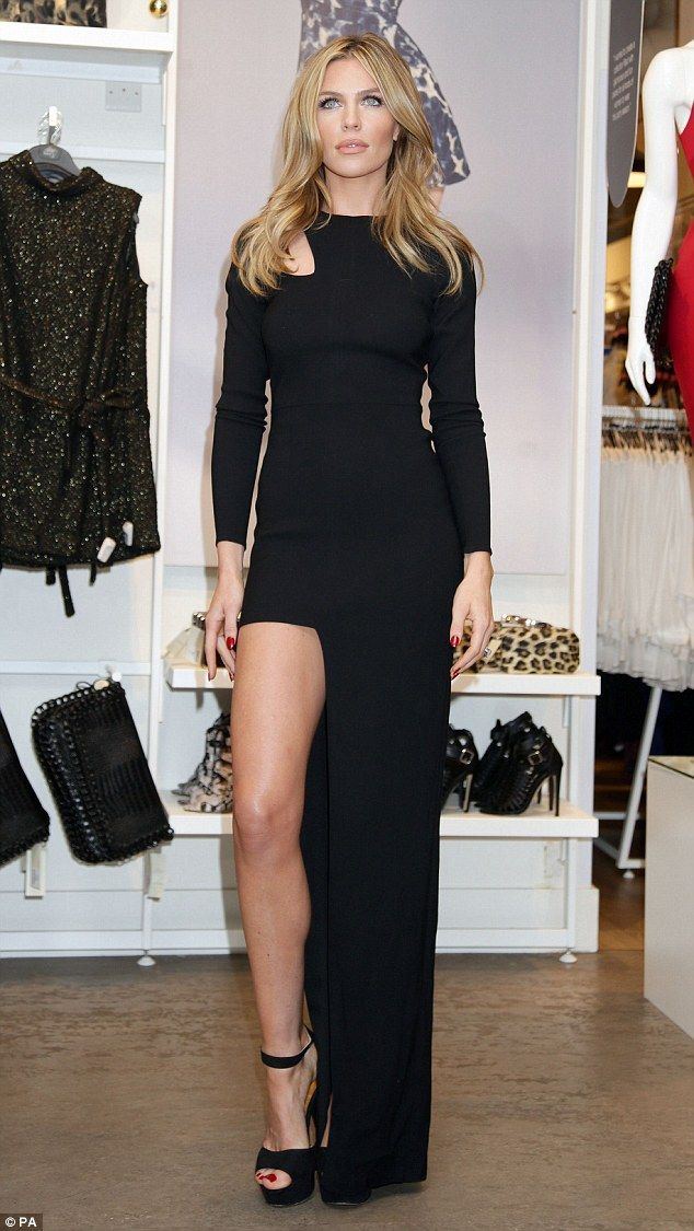 Abbey Clancy Showcases Supermodel Legs In Thigh Split Dress At