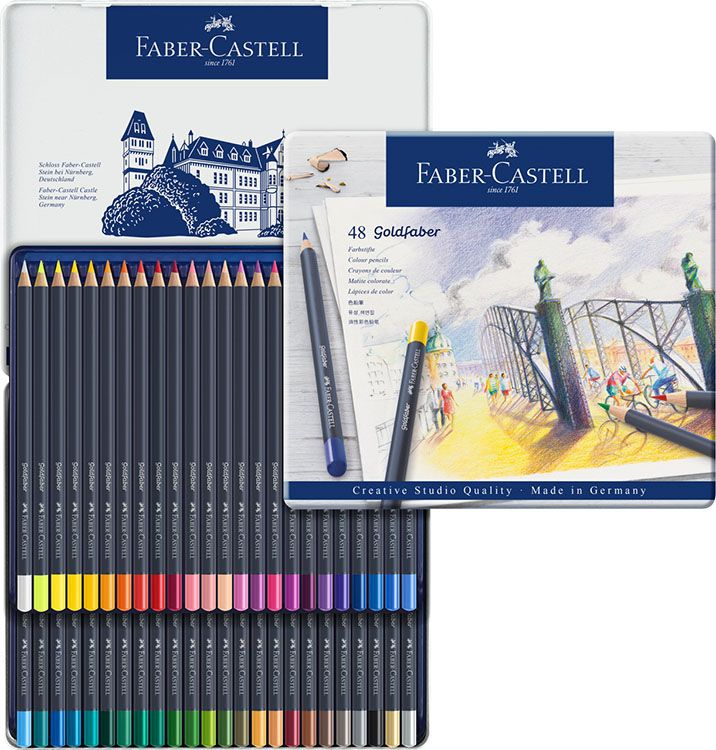 Faber Castell Goldfaber Tin Of 48 Color Pencils Faber Castell
