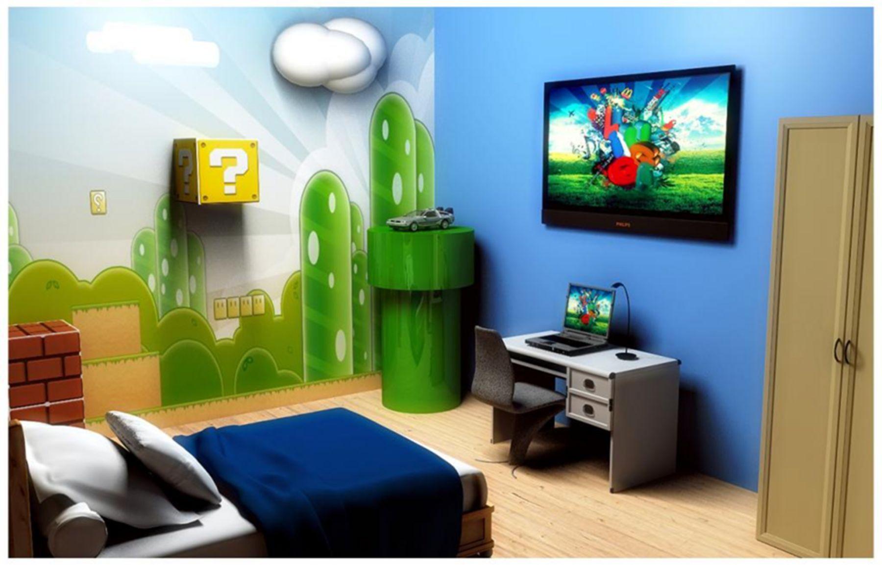 Top 25 Amazing Teenage Boys Bedroom Design Ideas For Your Child Mario Room Super Mario Room Mario Bros Room