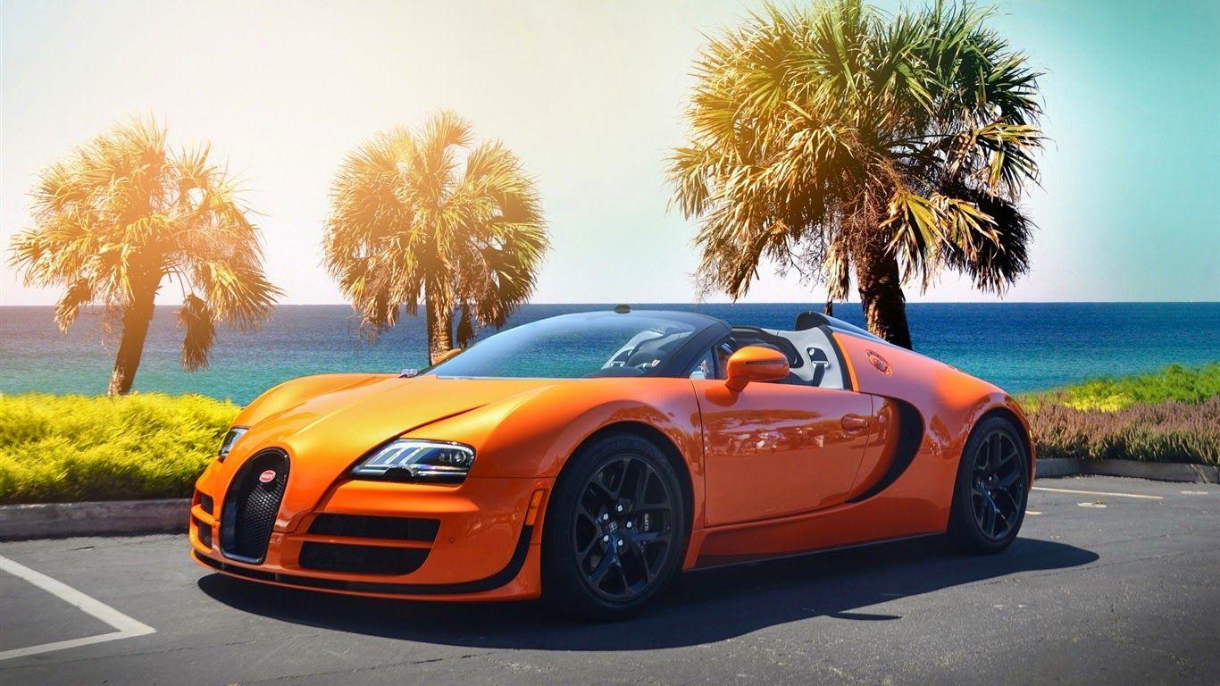 Bugatti Veyron Orange Full Hd Wallpaper Bugatti Veyron