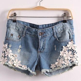 short jeans dentelle Recherche Google | Accoutrement