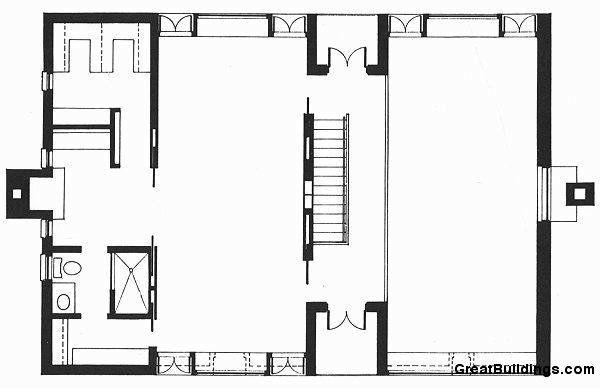 Great Buildings Drawing   Esherick House