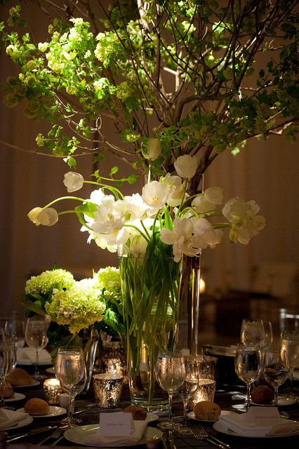 Large Branch Vase With Tulips Flower Arrangements Hydrangea Arrangements Flowers