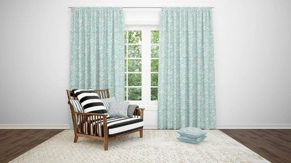 Premier Prints Hibiscus Collection Lined Curtain Panels Custom
