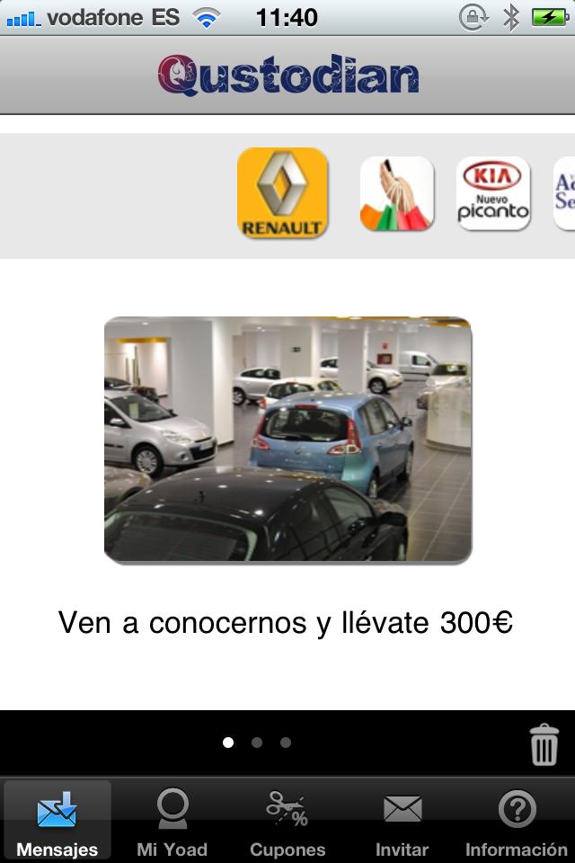 Campaña de promoción de nueva apertura de concesionario Renault en Madrid #MarketingMovil http://blog.es.qustodian.com/?p=1080