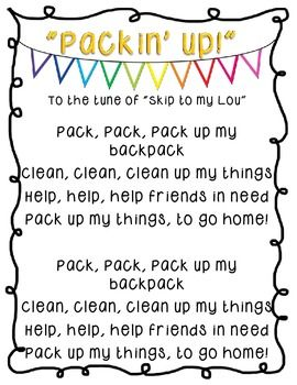 Classroom Management Songs Amp Rhymes Poster Pack Teaching