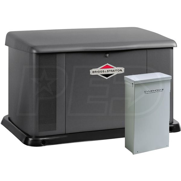 Briggs Stratton 40346 20kw Standby Generator System Steel 200a Service Disconnect Ac Shedding Generator House Standby Generators Whole House Generators
