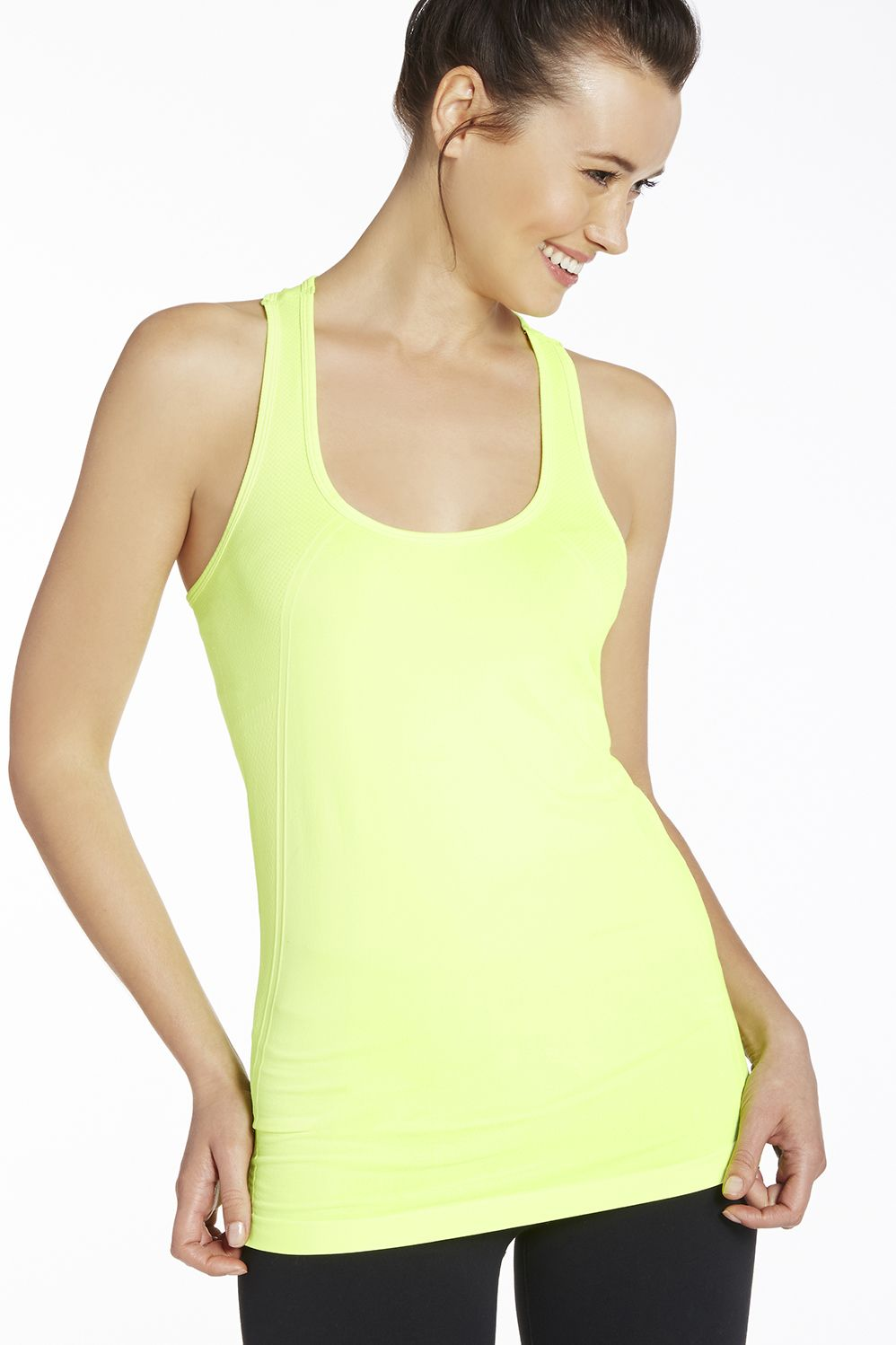 Oula Tank in Neon Yellow Get great deals at Fabletics