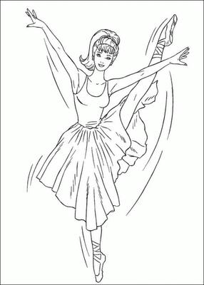 DIBUJOS PARA COLOREAR BARBIE BAILARINA PARA COLOREAR  Ballet