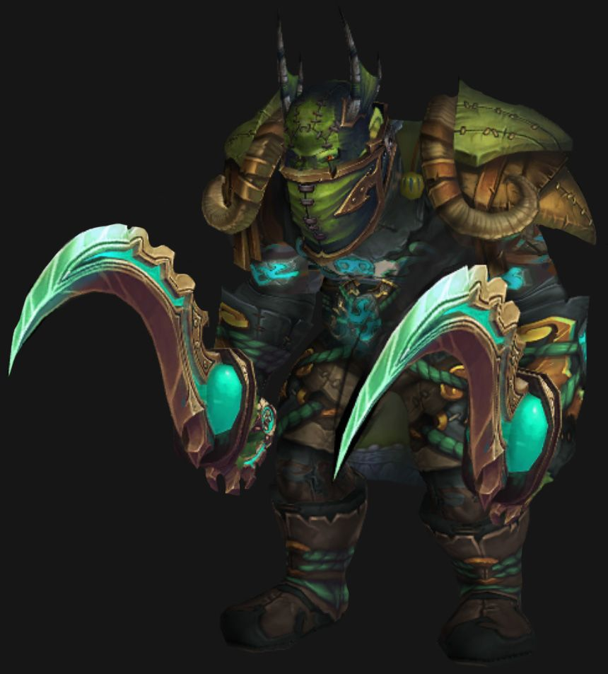 Orc Male Outlaw Rogue Transmog Set World Of Warcraft
