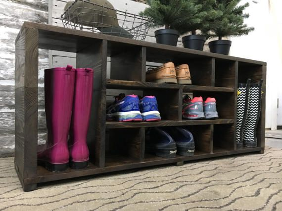 Jenny Shoe Storage Bench// Shoe Rack // Boot Storage Bench //