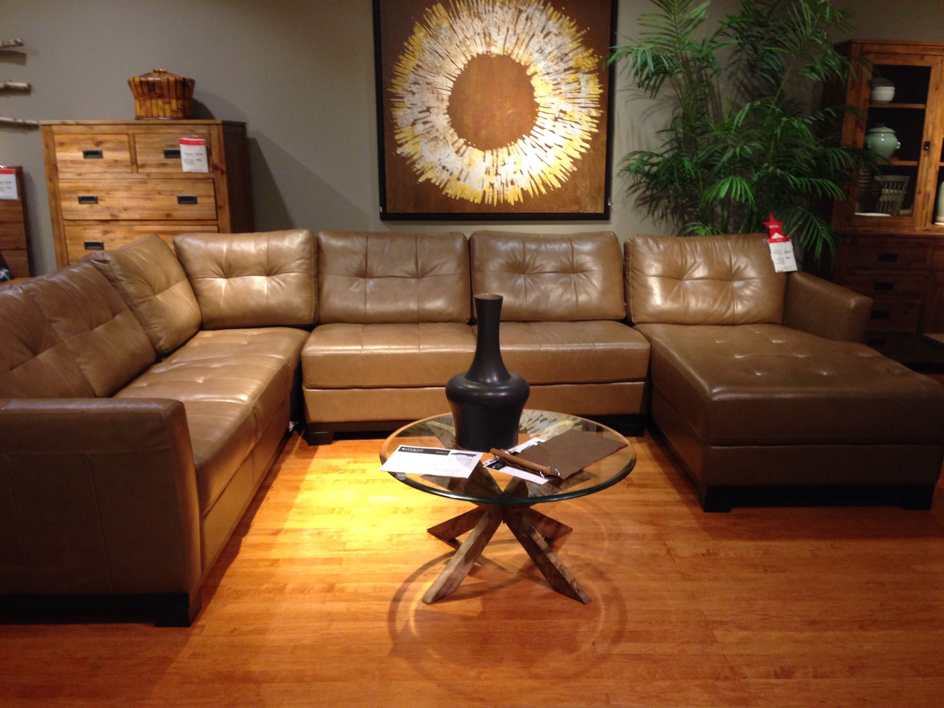 Martino Leather Sectional Macys For the Home