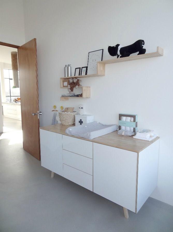 plank boven commode - babykamer | pinterest - commodes en babykamer, Deco ideeën