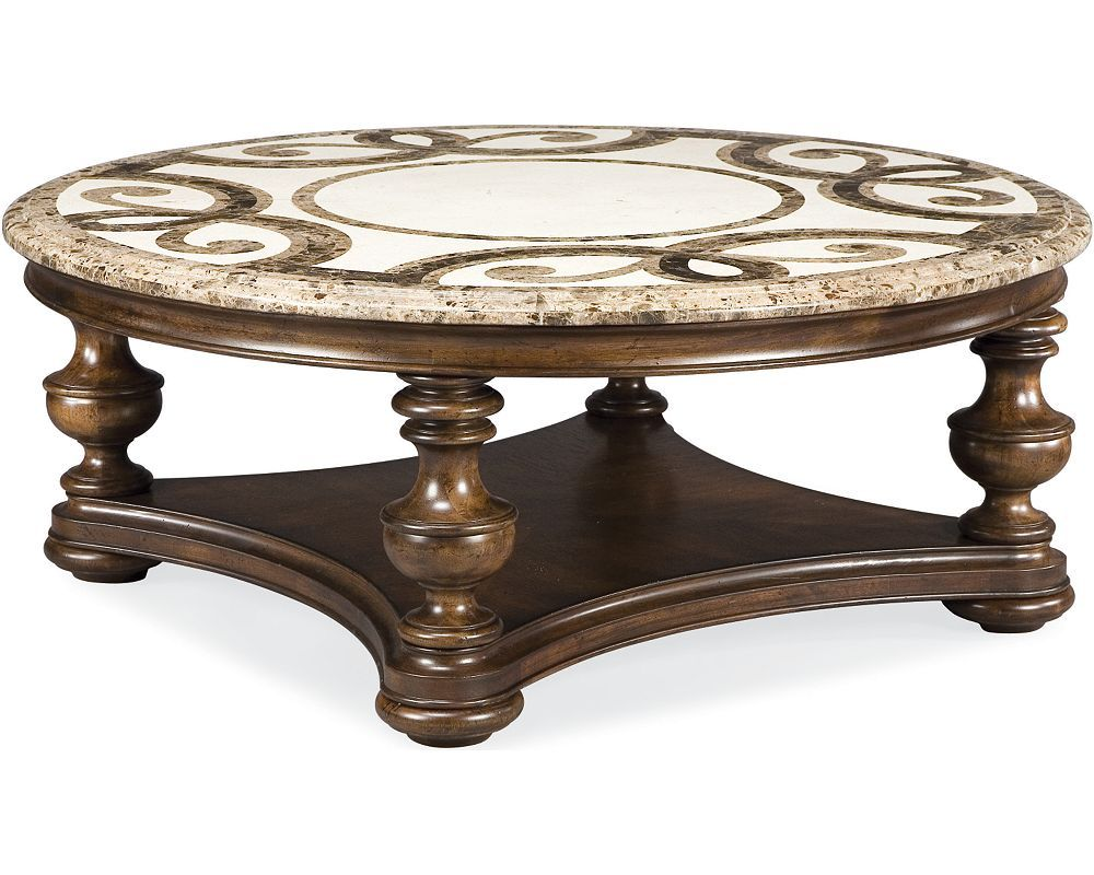 Trebbiano Round Cocktail Table Stone Top Sku 3 43632 173 Thomasville Furniture Coffee Table Round Cocktail Tables [ 800 x 1000 Pixel ]
