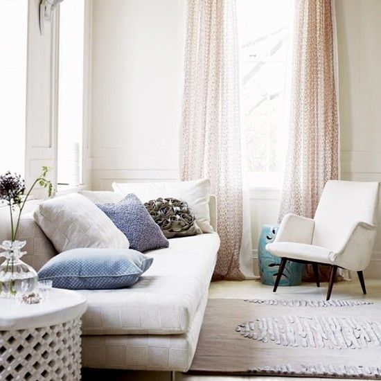 Grau und Flieder Wohnzimmer Wohnideen Living Ideas Interiors - wohnideen wohnzimmer lila