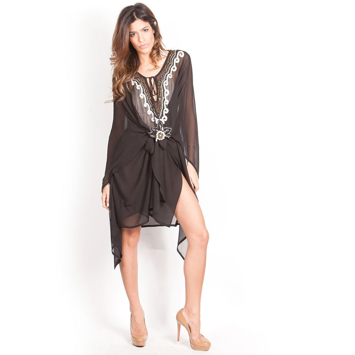 Vneck coverup in black this is pretty my style pinterest