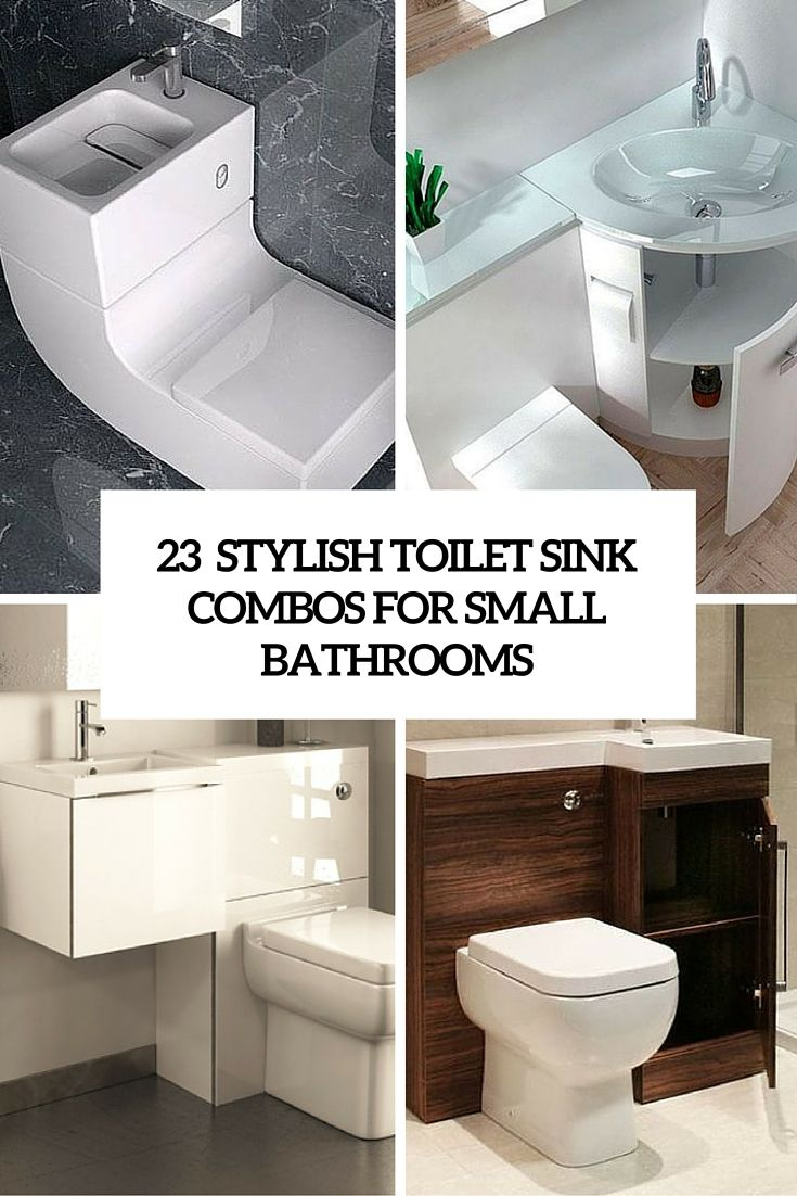 stylish toilet sink combos for small bathrooms | Sinks | Pinterest ...