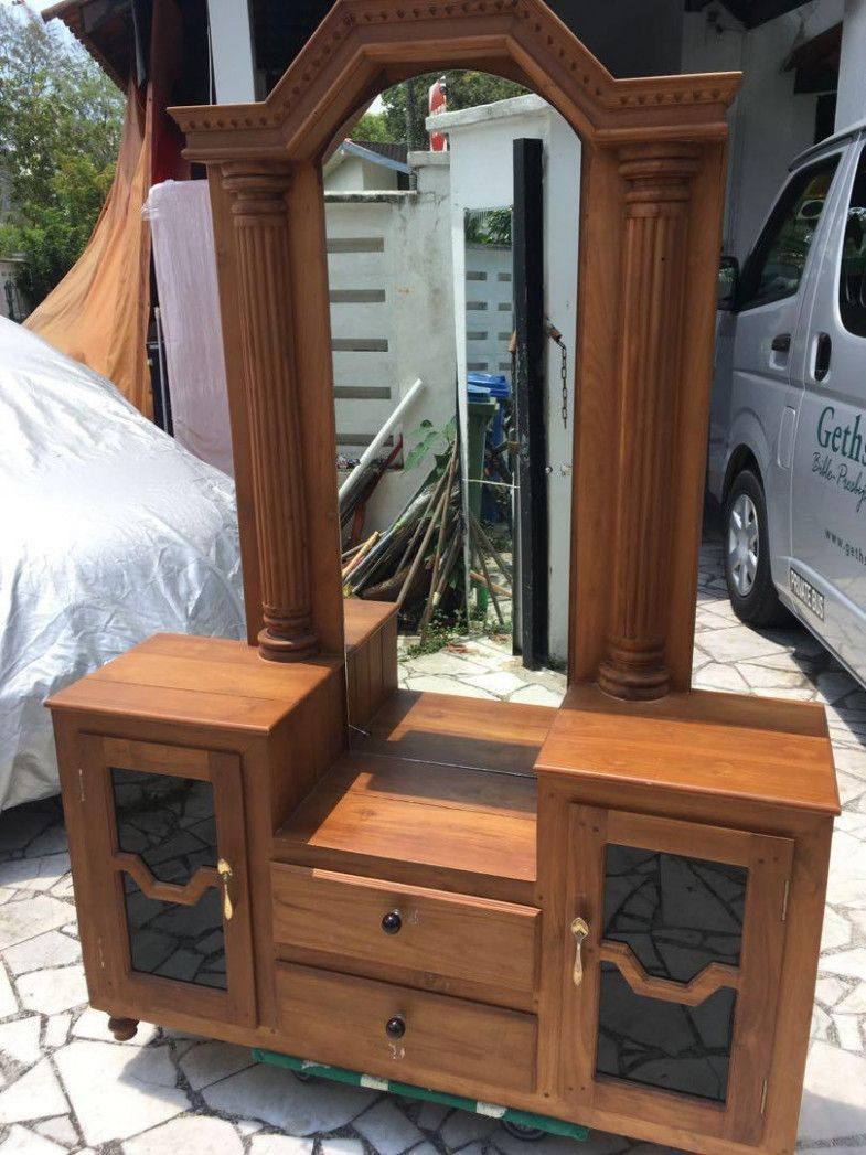 Teakwood Dressing Table Furniture Others On Carousell Dressing Teak Wood Furniture Teak Wood Furniture Teak Wood Furniture Teak Wood Wood Bed Design