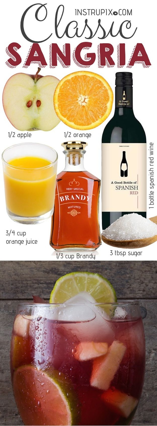 Easy Classic Red Sangria Recipe Sangria Recipes Red Sangria Recipes Easy Sangria Recipes