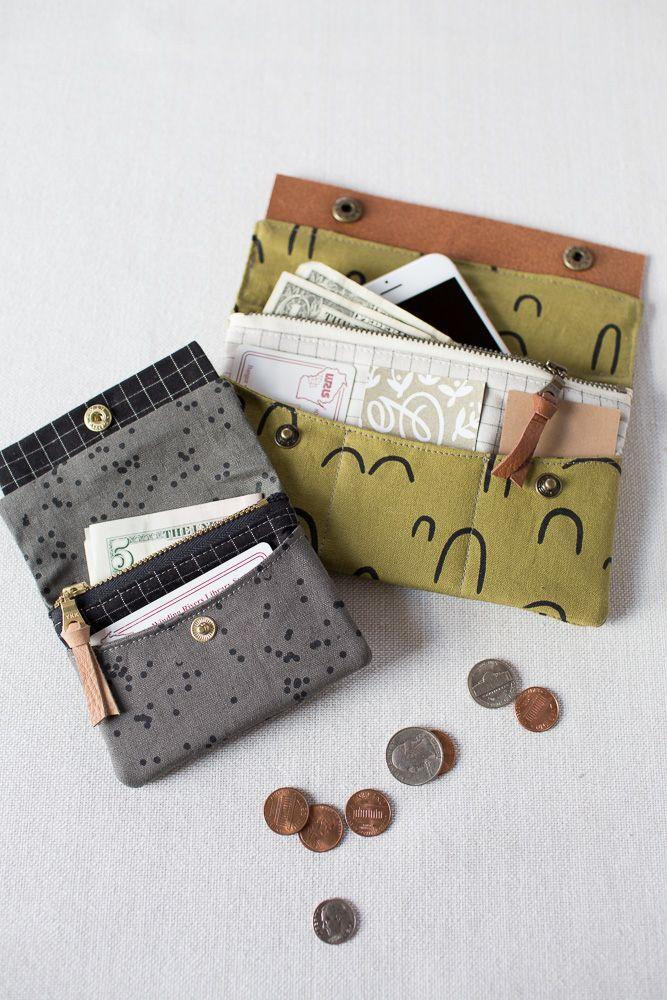 New Pattern! Minimalist Wallet | Nähen, Taschen nähen und Nähideen